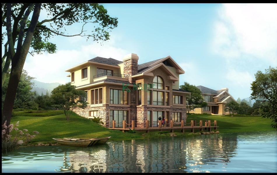 三层美式别墅效果图小户型典雅,占地99平方11×9米带露台阳台农村独栋别墅设计图